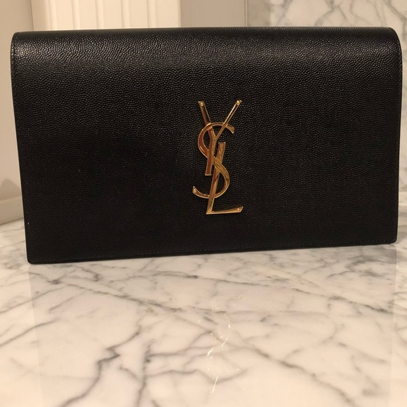 Yves Saint Laurent Handbags - YSL Saint Laurent Monogram Clutch NWOT